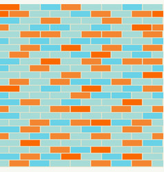 cartoon seamless coloful flat brick wall texture vector image