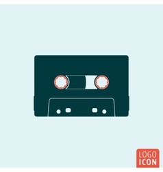 Cassette icon isolated vector image