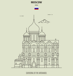Cathedral of the archangel in moscow vector