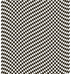 Checkered black and white background vector