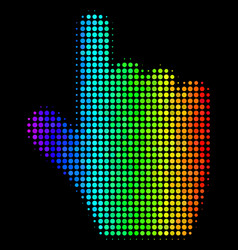 Colored dot pointer finger icon vector