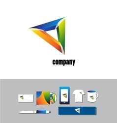 Corporate business abstract logo sign vector