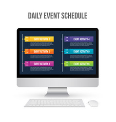 Creative of daily event vector