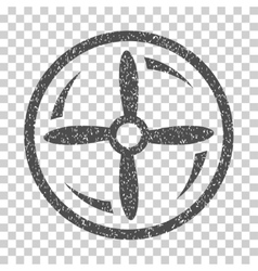 Drone Screw Rotation Grainy Texture Icon vector