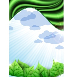 Eco green ackground with leaves vector