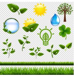 ecology symbols set isolated vector image