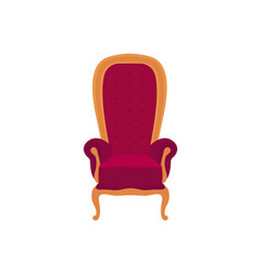 Empty classic armchair cartoon style vector