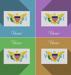 Flags VirginIslandsUS Set of colors flat design vector image