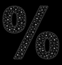 Flare mesh network percent with flare spots vector