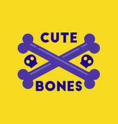 flat icon on stylish background cross bones vector image