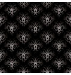 floral gothic black vector image