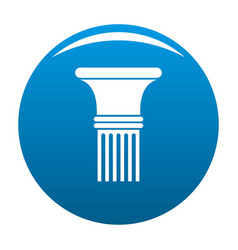Fluted column icon blue vector