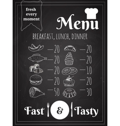 Food Menu Poster Design vector