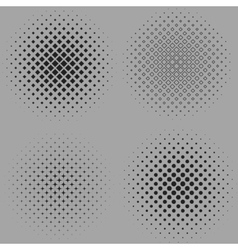 Four of a dotted halftone vector