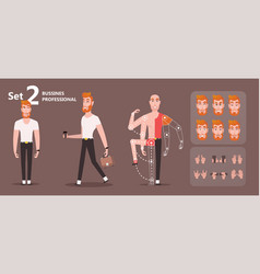 Front view animated character vector