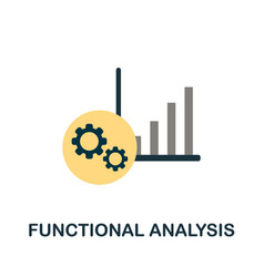 Functional analysis flat icon simple element from vector