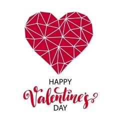 Geometric Mosaic Heart Template for Valentines vector