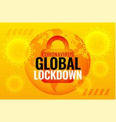 Global coronavirus lockdown background due to vector