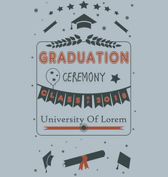 Grad class 2018 with mustache graduation cap vector