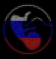 Halftone russian prenatal icon vector