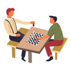 Hoband sport chess game on table intellectual vector