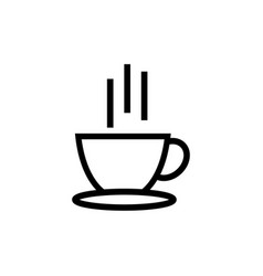 hot coffee icon design template isolated vector image