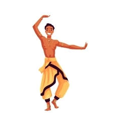 Indian male dancer in traditional harem pants vector image