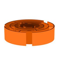 isometric orange maze vector image