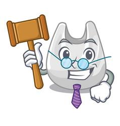 Judge plastic bag mascot cartoon vector