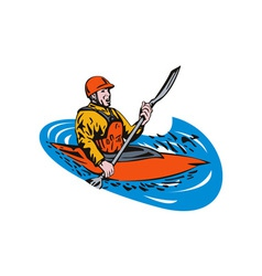 Kayak Paddler vector
