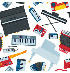 keyboard piano music instruments musician vector image