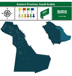Map eastern province saudi arabia vector