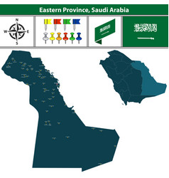 map of eastern province saudi arabia vector image