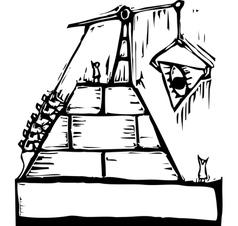 Masonic Pyramid Construction vector