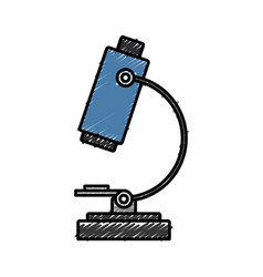 Microscope tool icon vector