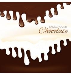 Milk chocolate splash vector image