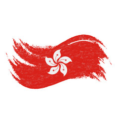 National flag of hong kong designed using brush vector