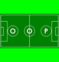 Oop football field vector