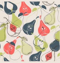 pear seamless pattern vector image