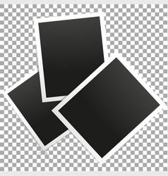 photo frame on transparent background vector image