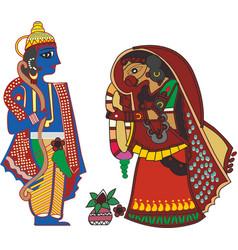 Radha krishna vector