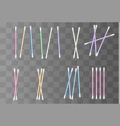 Realistic cotton swabs vector