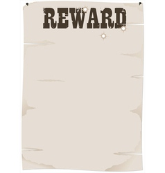 reward poster vector image