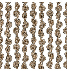 Rope tangled seamless pattern vector