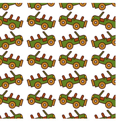 safari jeep pattern background vector image
