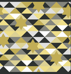 seamless abstract pattern in with stars vector image