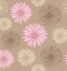 seamless pattern in pastel colors flowers vector image