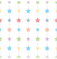 seamless stars and sky seamless pattern vector image