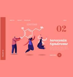 serotonin landing page template characters vector image