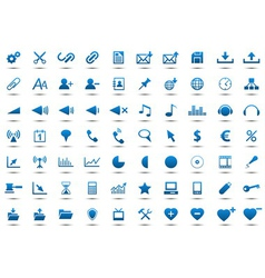 Set of blue icons vector image